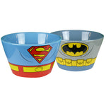 Batman & Superman Ceramic Bowl set