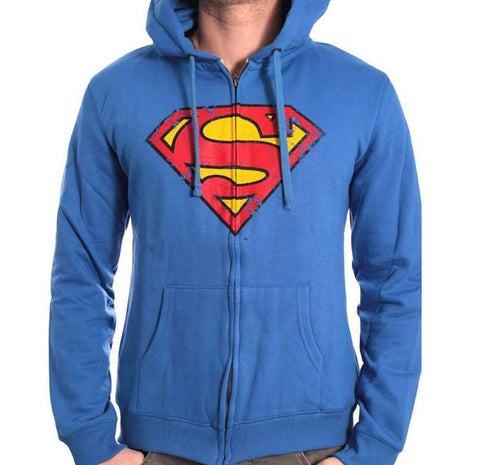 Superman Zip-Up Hoodie