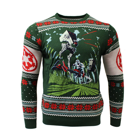 Star Wars Battle of Endor Knitted Christmas Jumper / Sweater