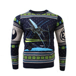 Star Wars X-Wing Chase Knitted Christmas Jumper / Sweater