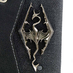 The Elder Scrolls Skyrim Chain Wallet with Metal Dragon Badge