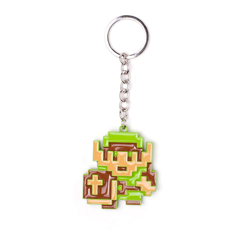 The Legend of Zelda 8-Bit Link Metal Key Ring