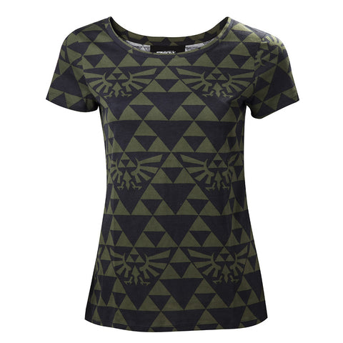 The Legend of Zelda Hyrule Green and Black Ladies T-Shirt