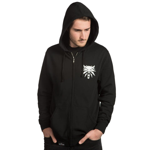 The Witcher Steel and Silver Zip-Up Hoodie