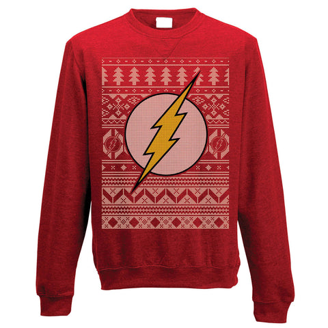 The Flash Fairisle Christmas Jumper-X-Large