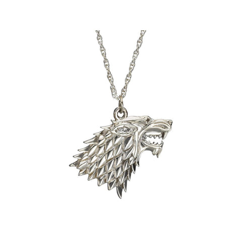 Game of Thrones House Stark Sterling Silver Wolf Sigil Pendant