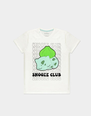 Pokemon Bulbasaur Snooze Club Men's T-shirt