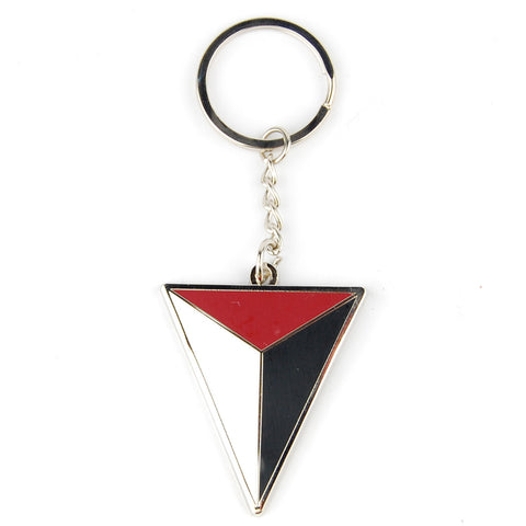 Uncharted Shoreline Triangle Metal Keychain