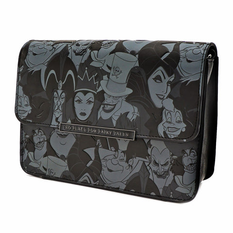 Loungefly X Disney Villains All Over Print Tassel Cross Body Bag