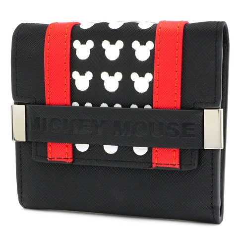 Loungefly x Disney Mickey Red & Black Trifold Purse