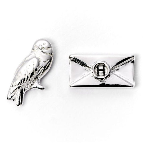 Harry Potter Hedwig and Letter Silver Plated Stud Earrings