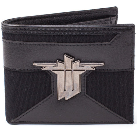 Wolfenstein Bi-Fold Wallet with Metal Badge Logo