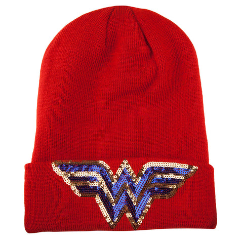 Wonder Woman Sequin Beanie Hat