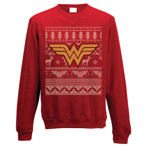 Wonder Woman Fairisle Christmas Jumper-Large