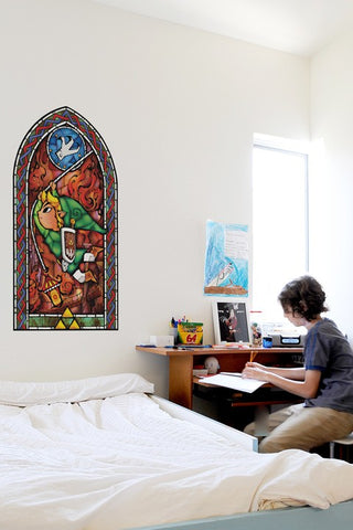 Zelda Stained Glass Wall Decal (Grappling Hook)