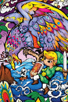 Zelda Stained Glass Wall Decal (Helmaroc King)