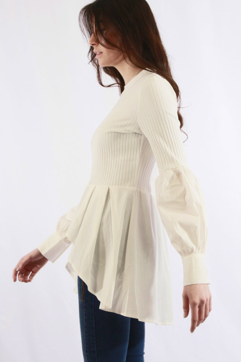 Long-line Wavy Casual Top