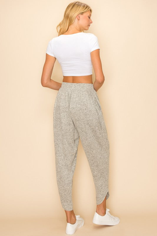 Draped Pants with Asymmetrical Cuffs