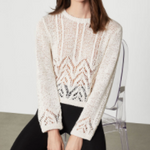 BCBGMAXAZRIA Mixed Stitch Sweater