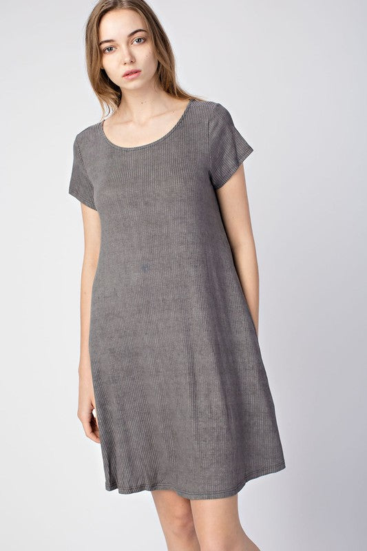 Ribbed Swing Dress