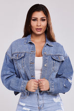 Oversized Crop Denim Jacket
