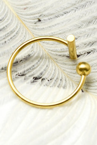 Gold/Silver T-Shape Open Ring