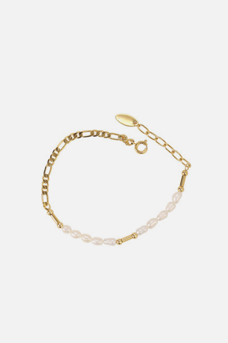 Textured Gold Chain Necklace and Bracelet