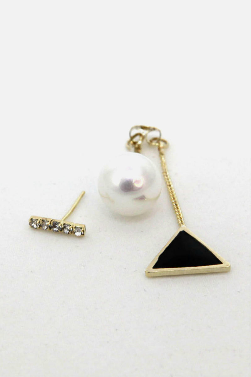 Triangle Imitation Pearl Drop Earrings