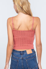 Pointelle Sweater Cami Top