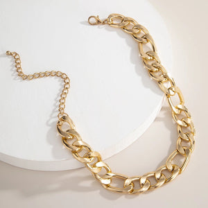 Gold color Chunky light weight Necklace Choker