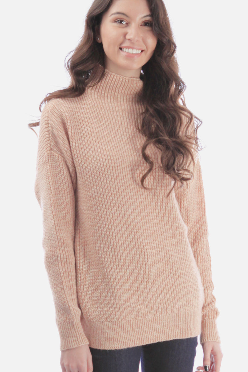 VERO MODA Heathered Shaker Knit Wool Blend