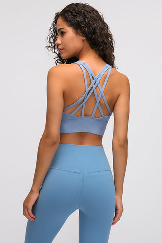 Strappy Thick Band Sports Bra