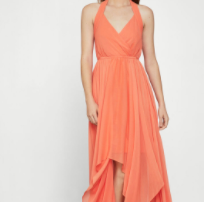 BCBGMAXAZRIA Chiffon Halter Dress