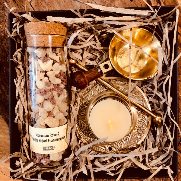 Moroccan Rose & Frankincense Candle Burning Delight Our Mother's Day Special