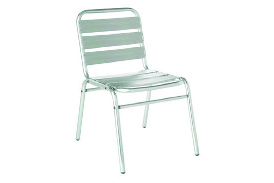 Emu Americas 1000-00-00 EMU AMERICAS-FLORA-SIDE CHAIR - POLISHED ALUMINUM