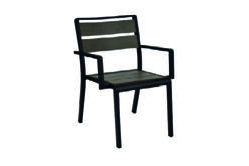 Emu Americas 1120-24-400 EMU AMERICAS-SID-ARM CHAIR - GREY - TEXTURED BLACK