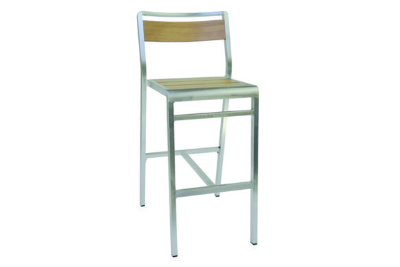 Emu Americas 1220-06-401 EMU AMERICAS-SID BAR OR COUNTER-BAR STOOL - OAK / BRUSHED ALUMINUM