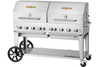 Crown Verity CV-MCB-60RDP-NG Mobile Outdoor Charbroiler, Natural gas, 58