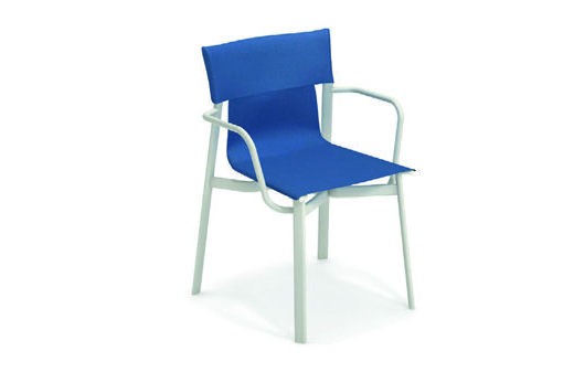 Emu 799-300/35 EMU-BREEZE-ARM CHAIR - ANTIQUE WHITE/BLUE