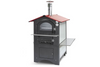 Fontana CA-ROSSO-80RV GUSTO FREESTANDING 80AV With RED Powder Coated Roof