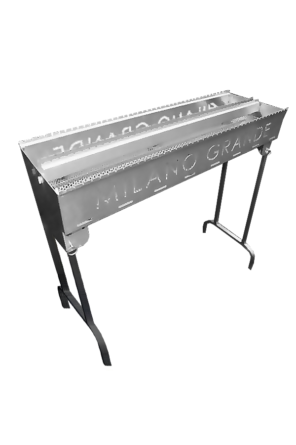 Milano HTM 1000-88 Milano Grande Large Stainless Steel Grill holding 88 skewers with St. St. collap