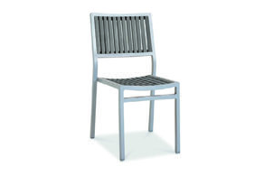 Eon GLI-AURA-CH-MARSGR-001 EON-MARITZ-SIDE CHAIR - SILVER FRAME  / EON GREY WOOD SEAT AND BACK