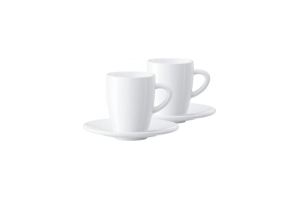 Jura 66497 White Espresso Cups/Saucers. Gift Box – Set of 2