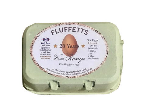 6 Fluffetts Free Range Medium Eggs