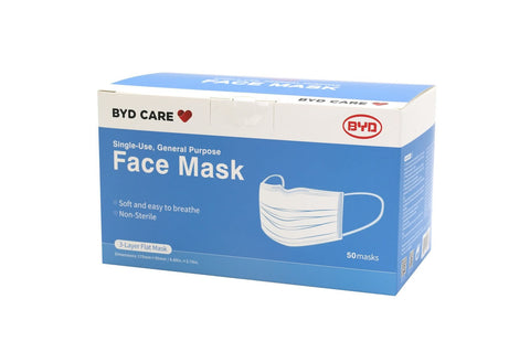 Single-Use, General Purpose Face Masks - Pack of 50