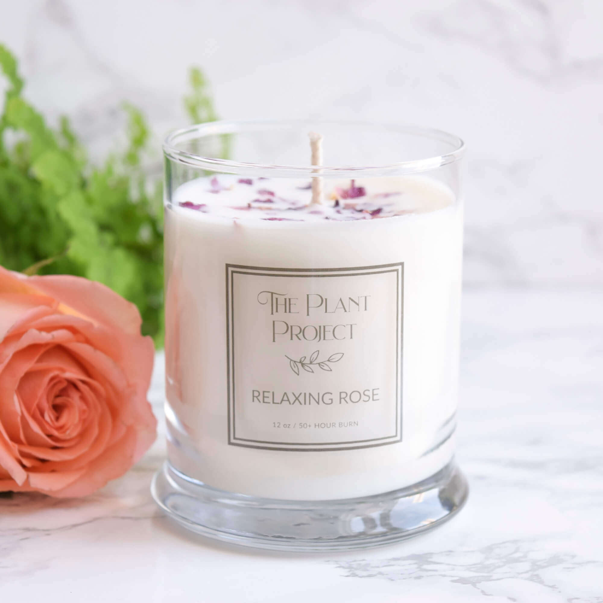 Relaxing Rose Candle