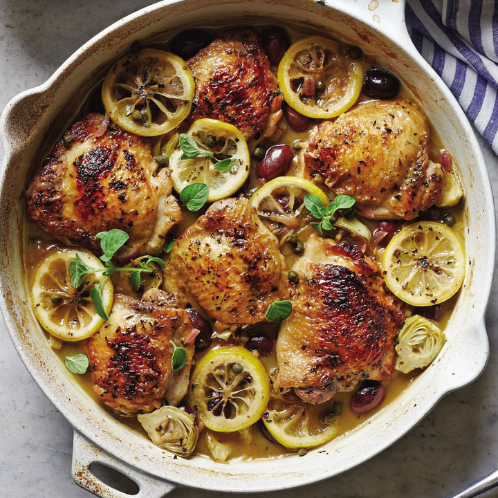 Recipe for Chicken with Lemon, Olives, and Capers