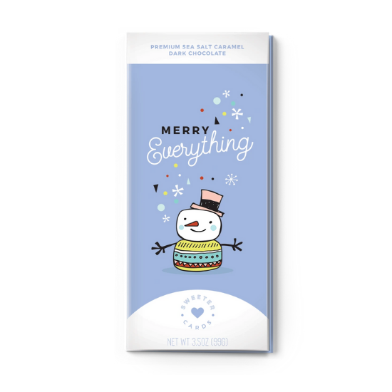 Merry Everything Chocolate Card
