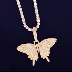 Icy Butterfly Diamond Necklace