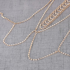 Crystal Gold Body Chain - crown-modern